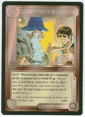 Middle Earth Wizard's Test Limited Black Border Game Card
