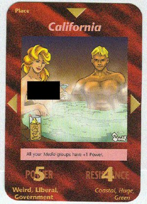 Illuminati California New World Order Game Trading Card