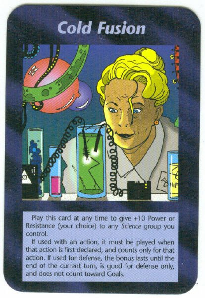 Illuminati Cold Fusion New World Order Game Trading Card