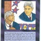 Illuminati Impostor New World Order Game Trading Card
