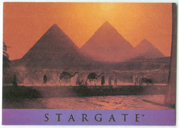 Stargate 1994 Adventure #AS-1 Chase Card Giza Plateau 1928