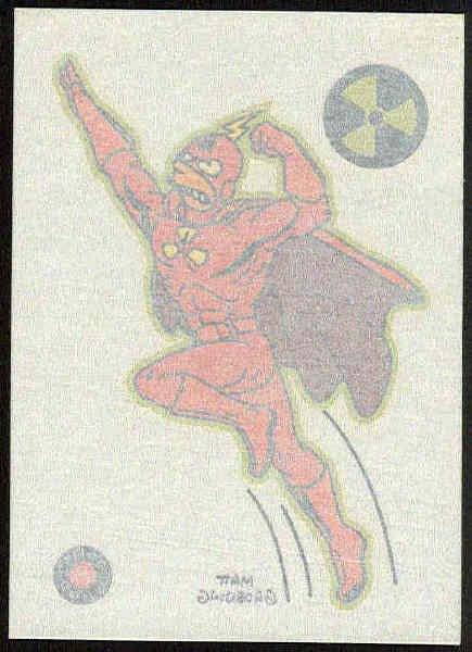 Simpsons 1993 Tattoo #8 Radioactive Man