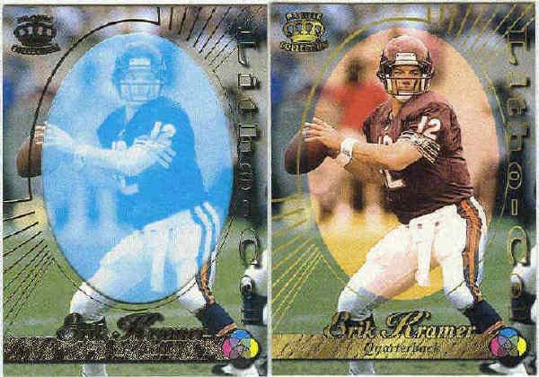1996 Pacific Erik Kramer #19 Gold Foil Cel and Litho Cards