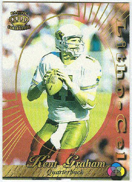 1996 Pacific Kent Graham #1 Litho Football Card
