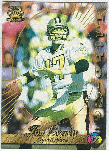 1996 Pacific Jim Everett #65 Litho Football Card