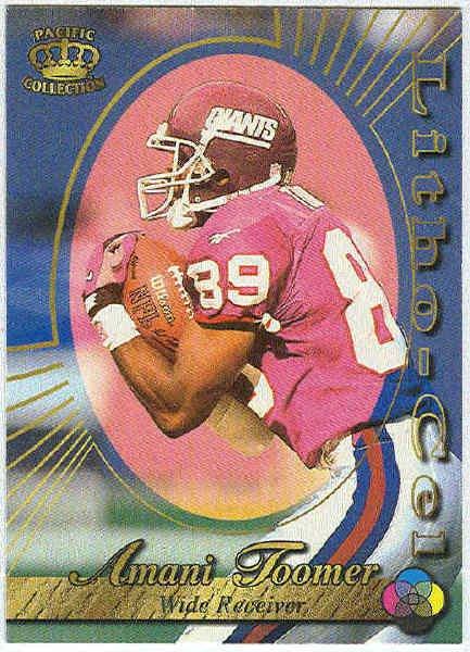 1996 Pacific Amani Toomer #69 Litho Football Card