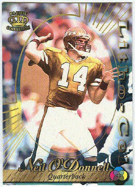 1996 Pacific Neil O'Donnell #71 Litho Football Card