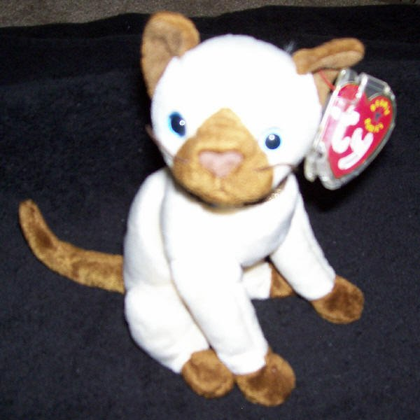Siam The Siamese Cat TY Beanie Baby Born October 19, 2000