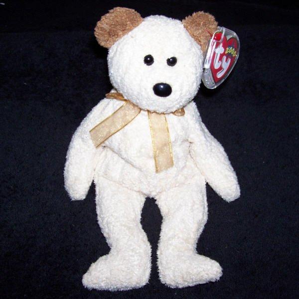 Huggy The Bear TY Beanie Baby Born August 20, 2000