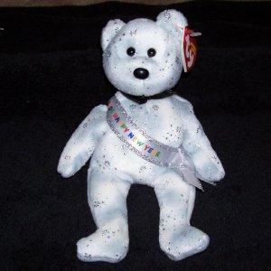 84bec31f2a5 New Year 2008 Bear TY Beanie Baby Born December 31