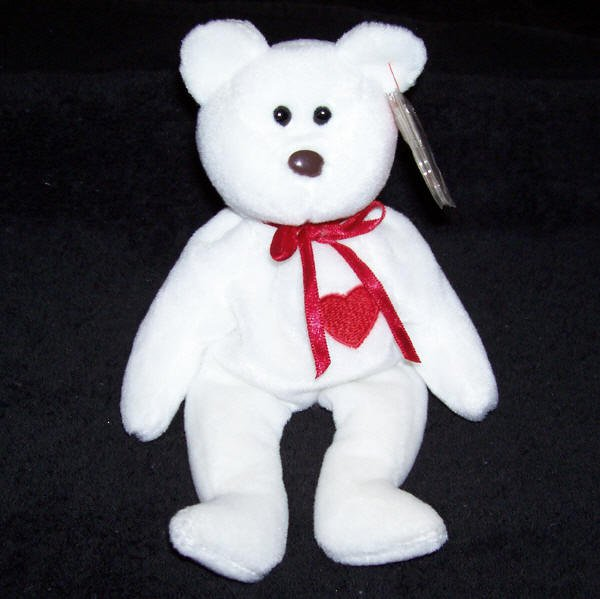 Valentino The Bear TY Beanie Baby Born February 14, 1994