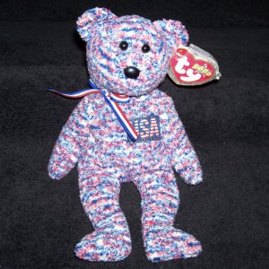 3ac59ce18a5 USA The American Bear TY Beanie Baby Born July 4