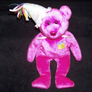 bba95540673 January The Birthday Bear TY Beanie Baby 2002 Retired