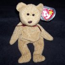 TY Beanie Baby Curly The Brown Bear Born April 12, 1996