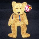 Fuzz The Bear TY Beanie Baby Born July 23, 1998 Retired