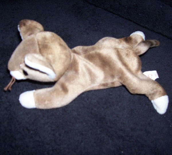 Pounce The Brown Cat TY Beanie Baby 1997 Retired
