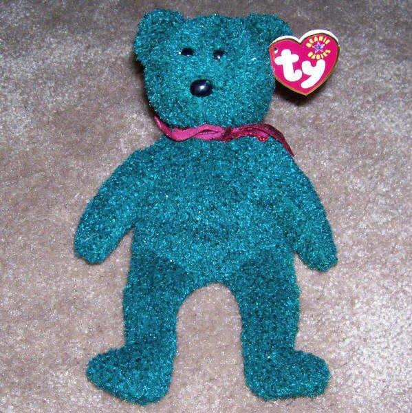 2001 Holiday Teddy The Bear TY Beanie Baby Born December 24, 2000