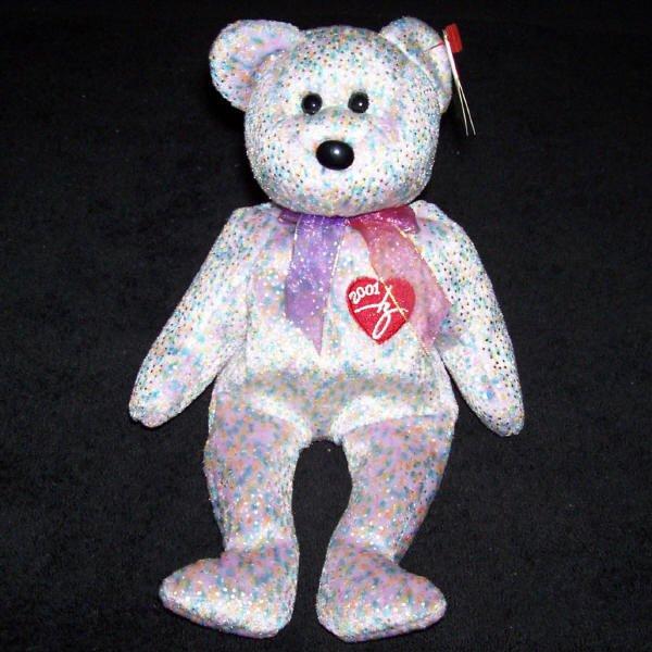 2001 Signature Bear TY Beanie Baby Retired