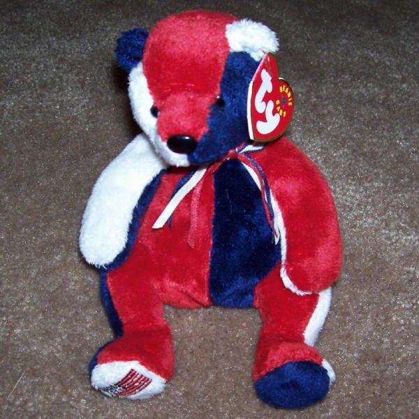 Patriot The Bear TY Beanie Baby Born May 29, 2000