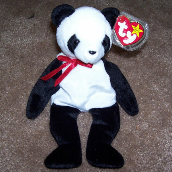 TY Beanie Baby Fortune The Panda Born December 6, 1997