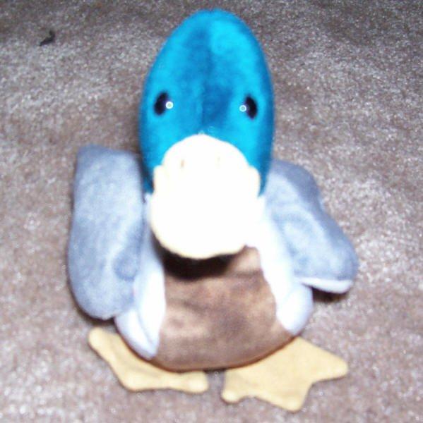 Jake The Mallard Duck TY Beanie Baby 1998 Retired