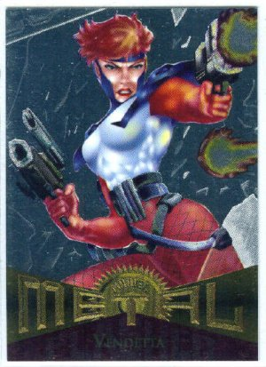 Marvel Metal #54 Vendetta Silver Flasher Parallel Chase Card
