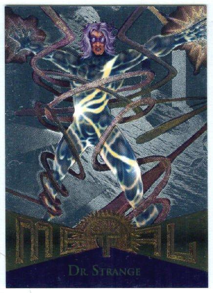 Marvel Metal #58 Dr. Strange Silver Flasher Parallel Card
