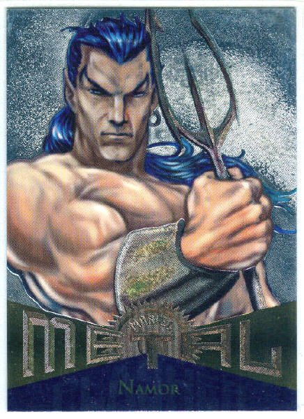 Marvel Metal #37 Namor Silver Flasher Parallel Chase Card