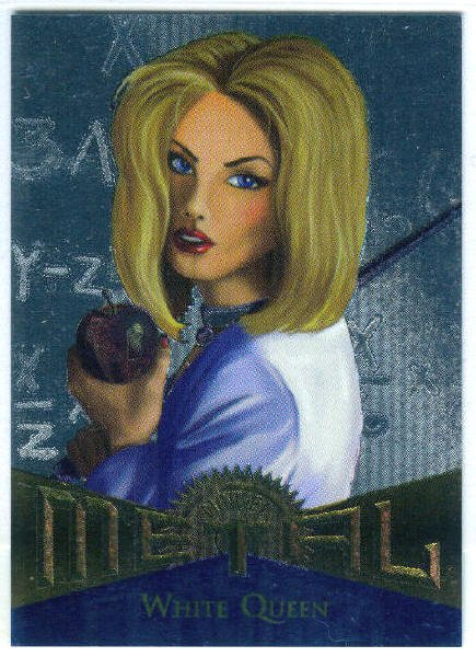Marvel Metal #124 White Queen Silver Flasher Parallel Card