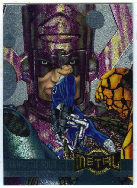 Marvel Metal #129 Fantastic Four Alternate M Silver Flasher