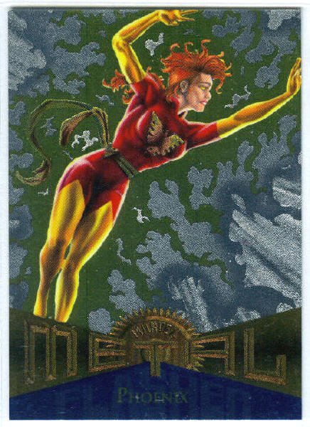 Marvel Metal #110 Phoenix Silver Flasher Parallel Chase Card