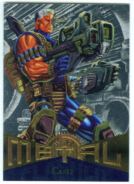 Marvel Metal #88 Cable Silver Flasher Parallel Chase Card