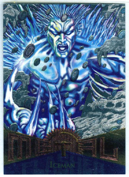 Marvel Metal #96 Iceman Silver Flasher Parallel Chase Card