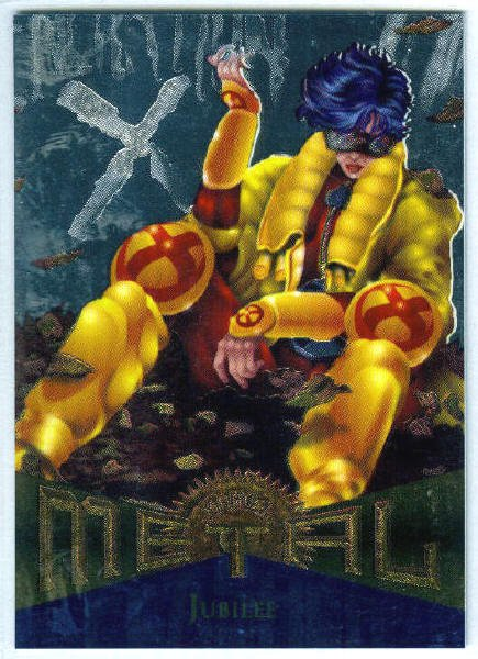 Marvel Metal #98 Jubilee Silver Flasher Parallel Chase Card