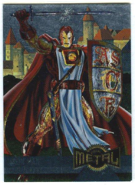 Marvel Metal #130 Iron Man Alternate M Silver Flasher Card