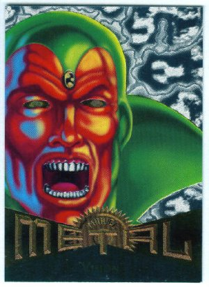 Marvel Metal #15 Vision Silver Flasher Parallel Chase Card