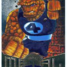 Marvel Metal #42 Thing Silver Flasher Parallel Chase Card