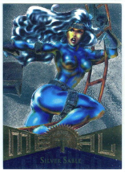 Marvel Metal #40 Silver Sable Silver Flasher Parallel Card