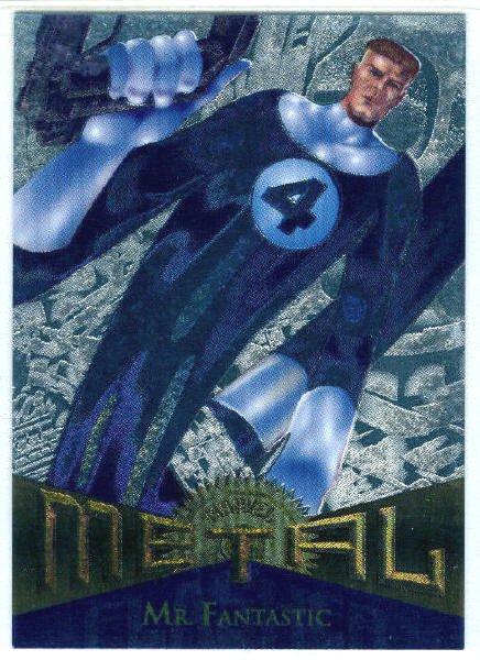 Marvel Metal #36 Mr. Fantastic Silver Flasher Parallel Card