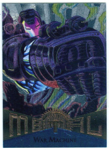 Marvel Metal #27 War Machine Silver Flasher Parallel Card