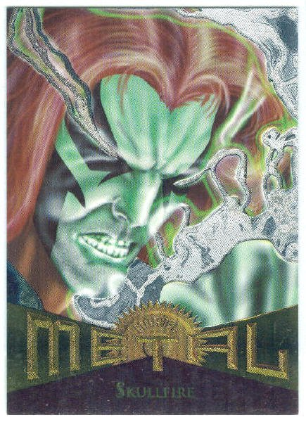 Marvel Metal #52 Skullfire Silver Flasher Parallel Chase Card