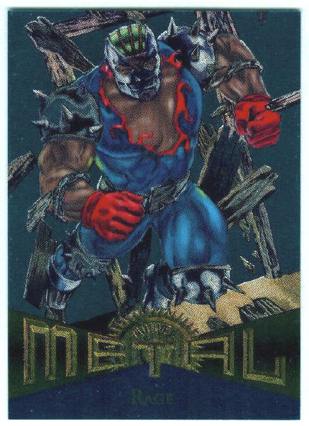 Marvel Metal #68 Rage Silver Flasher Parallel Chase Card