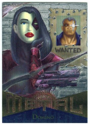 Marvel Metal #93 Domino Silver Flasher Parallel Chase Card