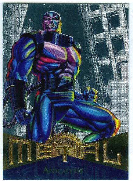 Marvel Metal #82 Apocalypse Silver Flasher Parallel Card