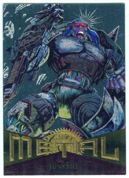 Marvel Metal #48 Junkpile Silver Flasher Parallel Chase Card