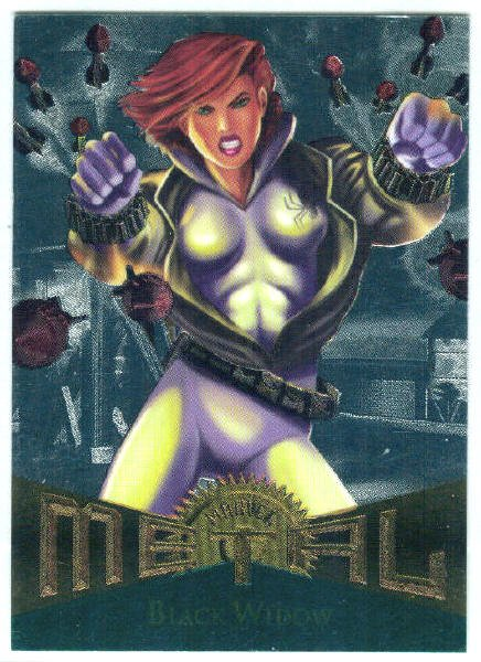 Marvel Metal #10 Black Widow Silver Flasher Parallel Card