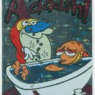 Ren and Stimpy 1993 #1 Sticker Puzzle Trading Card Aaaaah!