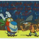 Ren and Stimpy 1993 #23 Sticker Puzzle Trading Card