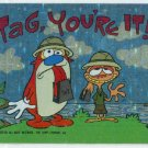 Ren and Stimpy 1993 #25 Sticker Puzzle Trading Card