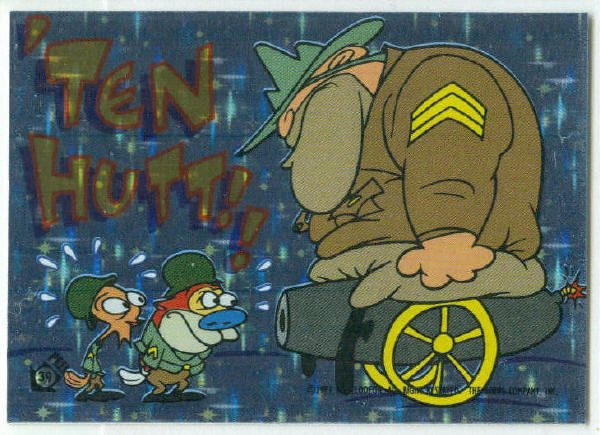 Ren and Stimpy 1993 #39 Sticker Puzzle Trading Card